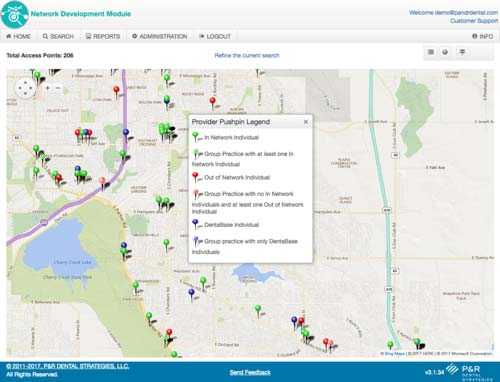 Find recruitment prospects with a push-pin map view