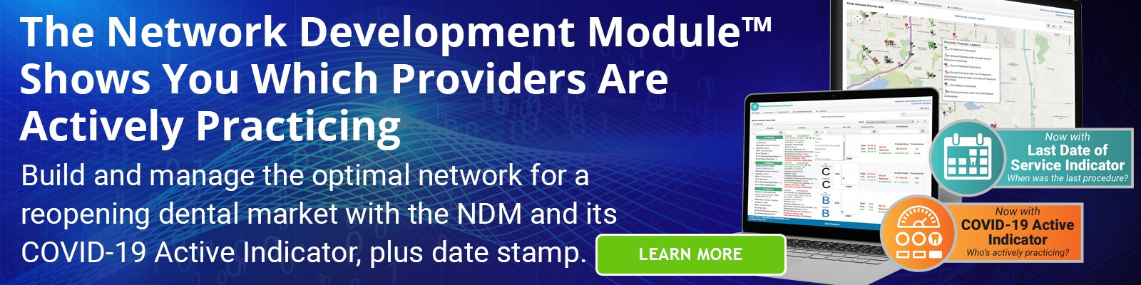 The Network Development Module Shows You Which Providers Are Actively Practicing - Click to learn more