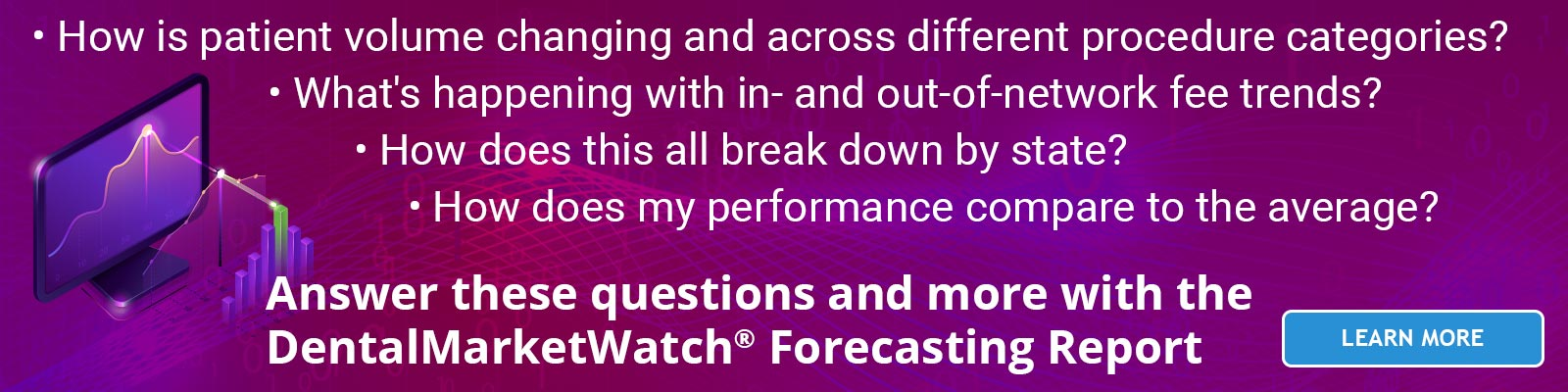 Answer the important questions about the future of your dental market with the DentalMarketWatch Forecasting Report