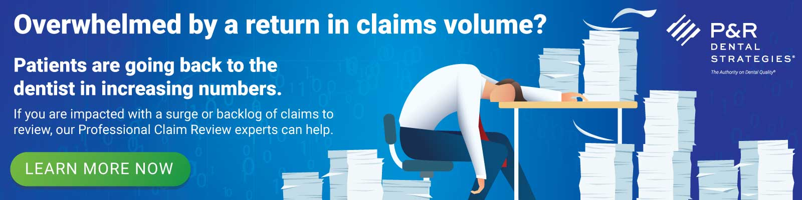 Overwhelmed by a return in claims volume? If you are impacted with a surge or backlog of claims to review, our Professional Claim Review experts can help.