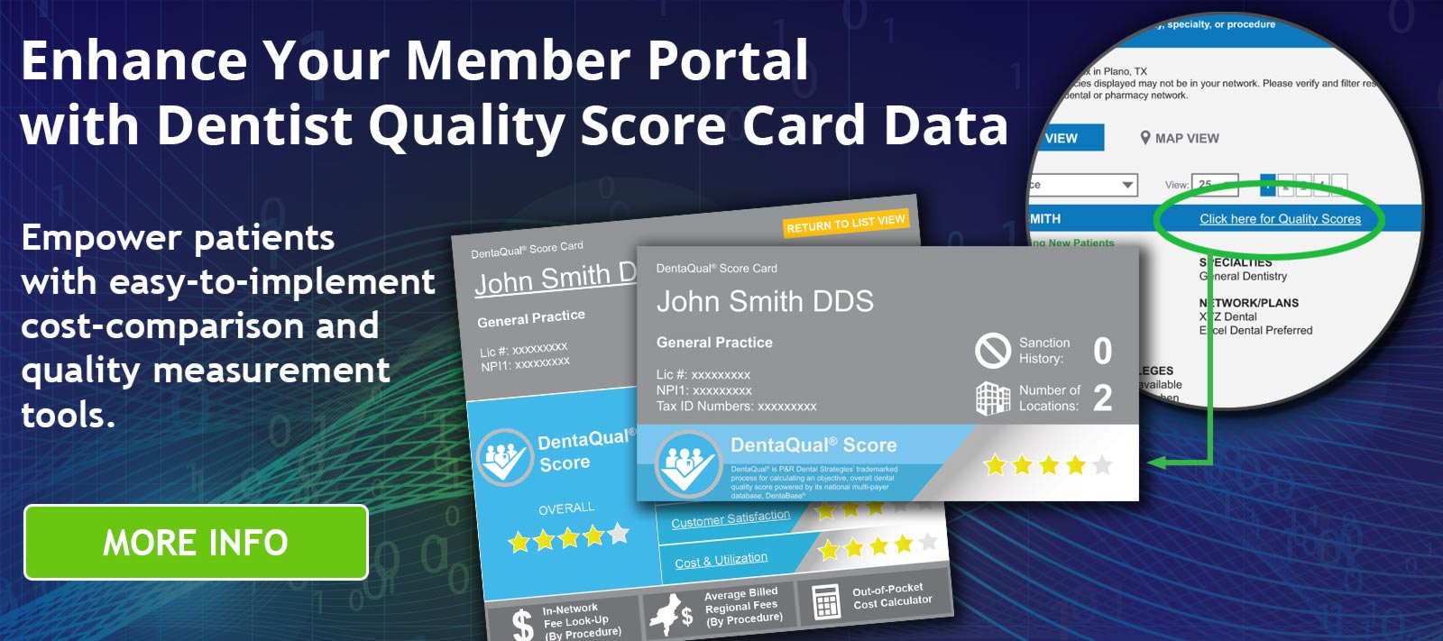 Enhance Your Member Portal with Dentist Quality Score Card Data - DentaQual